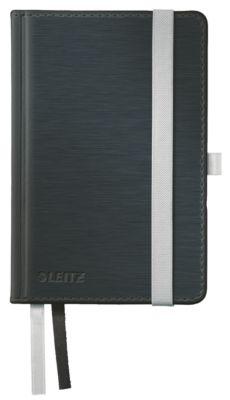 LEITZ Notizbuch Style 4489, Hardcover, DIN A6, liniert, satinschwarz