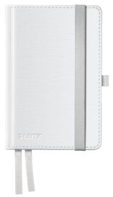 LEITZ Notizbuch Style 4491, Hardcover, DIN A6, kariert, arktikweiß