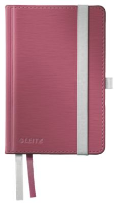 LEITZ Notizbuch Style 4491, Hardcover, DIN A6, kariert, granatrot