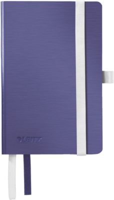 LEITZ Notizbuch Style 4493, DIN A6, kariert, Softcover, titanblau