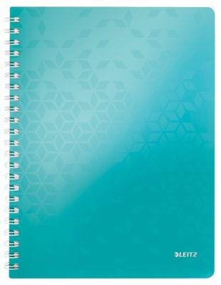 LEITZ Notizbuch WOW 4637, DIN A4, liniert, eisblau