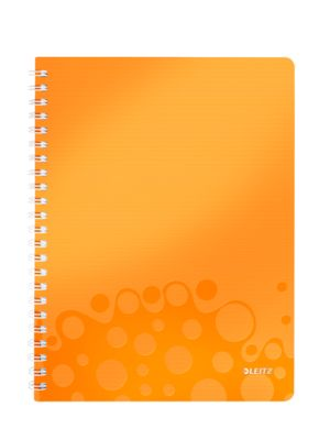 LEITZ Notizbuch WOW 4638, DIN A4, kariert, orange