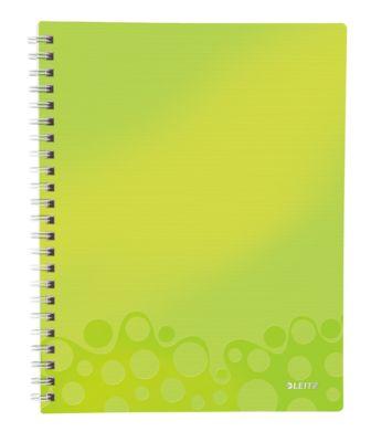 LEITZ Notizbuch WOW Get Organised 4642, DIN A4, liniert, grün