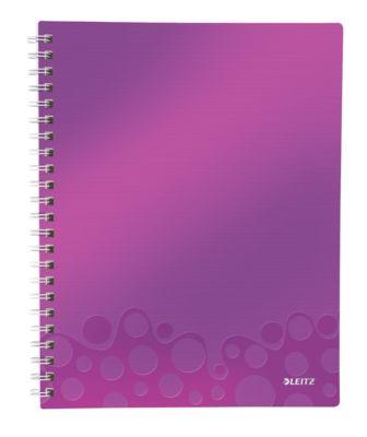 LEITZ Notizbuch WOW Get Organised 4643, DIN A4, kariert, violett
