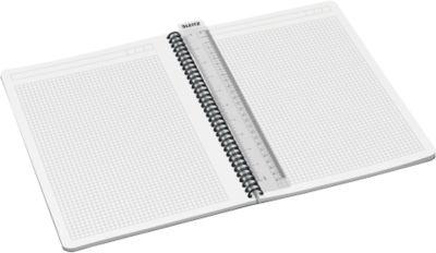 LEITZ® Office notitieboek A4, spiraalgebonden met PP kaft, 449500, geruit, geel