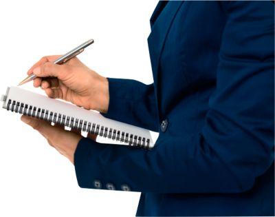LEITZ® Office Notitieboek A5 geruit, spiraalgebonden met PP kaft,449800, geel