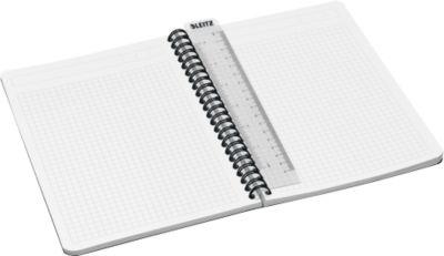 LEITZ® Office notitieboek A5, spiraalgebonden met PP kaft, geruit, 445800, geel