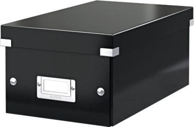 LEITZ Opbergdoos voor DVD Wow Click & Store - zwart