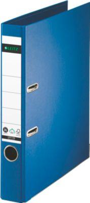 LEITZ® Ordner 1007/1008, DIN A4, Rückenbreite 52 mm, einzeln, blau