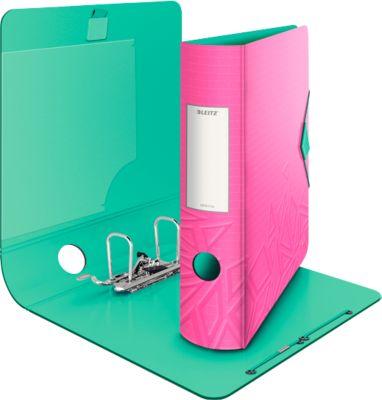 LEITZ® Ordner Active Urban Chic, DIN A4, Rückenbreite 65 mm, 5 Stück, pink