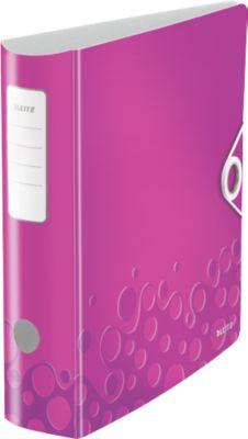 LEITZ® Ordner Active WOW, DIN A4, Rückenbreite 82 mm, violett