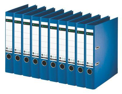 LEITZ® Ordners 1008 met papier, A4, 52 mm, blauw, 10 stuks