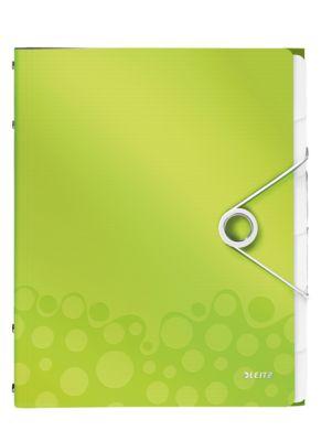 LEITZ Ordnungsmappe Active Wow, für DIN A4, 6 Fächer, grün