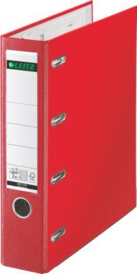 LEITZ® Plastik-Doppelordner 1012, DIN A4, 75 mm, PP, rot
