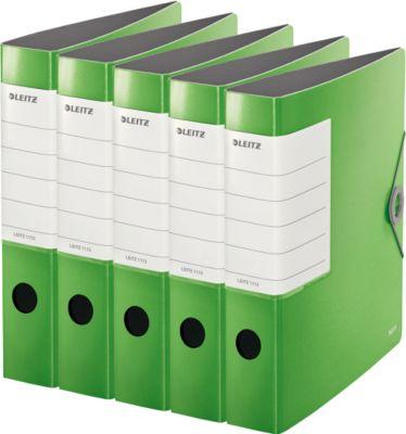 LEITZ® PP Ordners SOLID 1113, A4, 62 mm, lichtgroen, 5 stuks