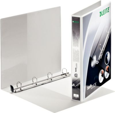 LEITZ® Premium SoftClick Presentatie ringbanden, met 4 D-ringen, A4 Maxi, 20 mm, wit, stuk