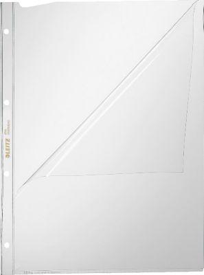 LEITZ Prospekthülle 4744, DIN A4, oben und links offen, 100 Stück, glasklar, transparent