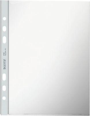 LEITZ Prospekthülle 4795, DIN A5, oben offen, 100 Stück, genarbt transparent