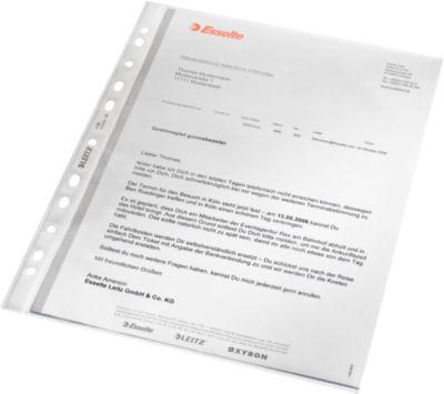 LEITZ® Prospekthüllen 4796, DIN A4, oben offen, 100 Stück, genarbt, transparent