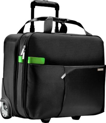 LEITZ® Reise-Trolley Smart Traveller, mit Tragegriff und Rollen,  Polyester, schwarz
