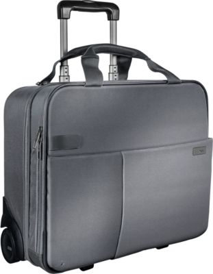 LEITZ® Reise-Trolley Smart Traveller, mit Tragegriff und Rollen,  Polyester, silbergrau