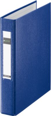 LEITZ® Ringbuch, DIN A5, 2-Ring-Mechanik, Rückenbreite 40 mm, blau