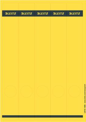 LEITZ® Rückenschilder lang, PC-beschriftbar, Rückenbreite 50 mm, selbstklebend 125 St., gelb