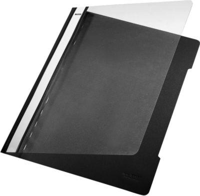 LEITZ® Schnellhefter 4191, DIN A4, PVC, 25 Stück, schwarz