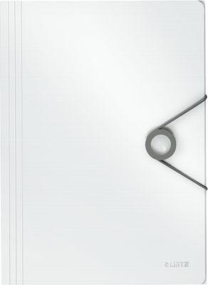 LEITZ® SOLID 3-kleps mappen met elastiek SOLID van PP, voor A4 formaat, wit