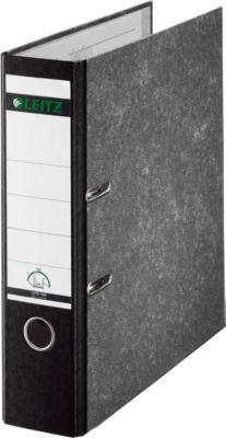 LEITZ® standaard ordner 1050, A4, 52 mm, wolkenmarmer, zwart, 1 stuk