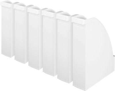 LEITZ® Stehsammler 2476, Rückenbreite 70 mm, Polystyrol, 6 Stück, weiß