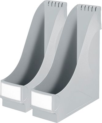 LEITZ® Stehsammler, DIN A4, Polysterol, 2 Stück, grau