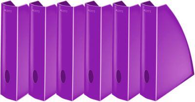 LEITZ® Stehsammler WOW 5277, Breite 75 mm,violet, 6 Stück