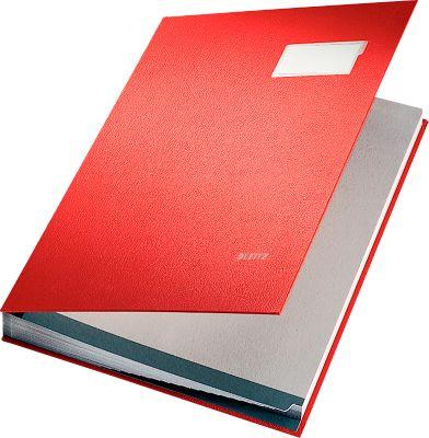LEITZ Unterschriftenmappe A4, 20 Fächer, Karton/Polypropylen, rot