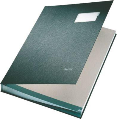 LEITZ Unterschriftenmappe A4, 20 Fächer, Karton/Polypropylen, schwarz
