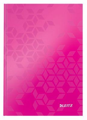 LEITZ® WOW notebook 4628, A5, geruit, roze