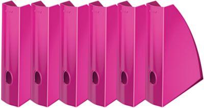 LEITZ®  WOW tijdschriftencassette 5277, breedte 75 mm, pak van 6 stuks, pink