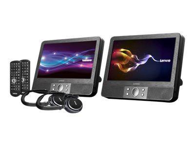 Lenco DVP-938 X2 - DVD-Player mit LCD-Monitor und Digital Player - Anzeige 9 Zoll - extern