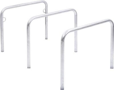 Leunbeugel WSM, 2-zijdig, B 1000 x D 48 x H 800 mm, gegalvaniseerd staal, voor inbedding in beton