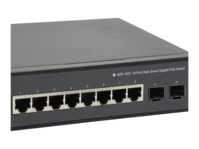 LevelOne GEP-1051 - Switch - 10 Anschlüsse - Smart - an Rack montierbar