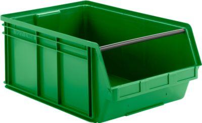 LF 743 magazijnbak met zichtopening, kunststof, 74 liter, groen