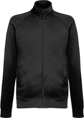 Lightweight Sweatjacket, schwarz, M