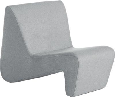 LinkUp fauteuil, hoge sterkte houten pootstel, met houten poten, lichtgrijs