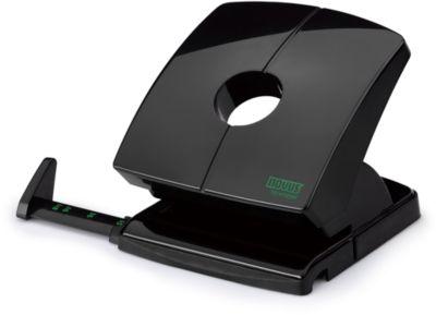 Locher Novus B230 re+new, 2-fach Lochung 80 mm, für 30 Blatt, Anschlagschiene + Anzeige, Vollmetall/Recyclat