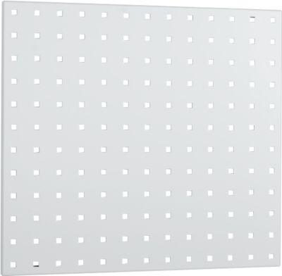 Lochplatte, 495 x 457 mm, lichtgrau RAL 7035
