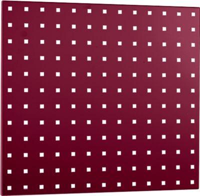Lochplatte, 495 x 457 mm, purpurrot RAL 3004