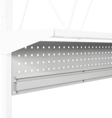 Lochplatte Serie TPB, aus Stahl, mit Kästenprofil, f. Packtische Serie TPB, Tischbreite 1800 mm