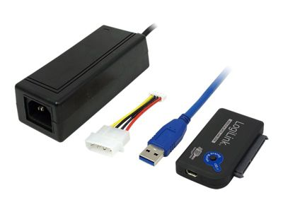 LogiLink Adapter USB 3.0 to SATA with OTB - Speicher-Controller - SATA 3Gb/s - USB 3.0