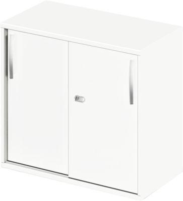 LOGIN aanbouw-/opzetkast met schuifdeuren, b 800 x d 420 x h 726 mm, wit/wit