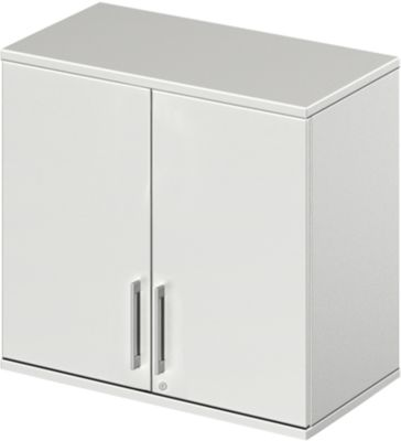 LOGIN opzetkast, 2 OH, b 800 x d 420 x h 726 mm, lichtgrijs/lichtgrijs